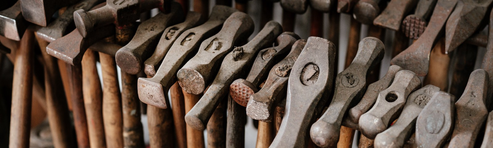 lots of old hammers — because Make is 'one more tool in the toolbox'