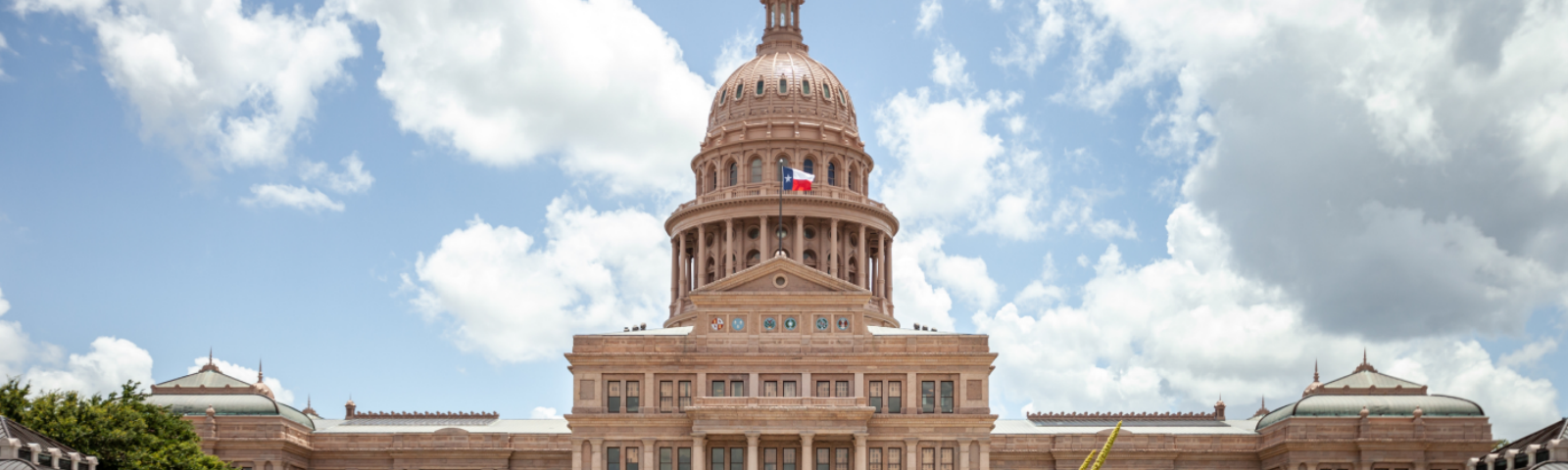 The Texas state capitol building in Austin