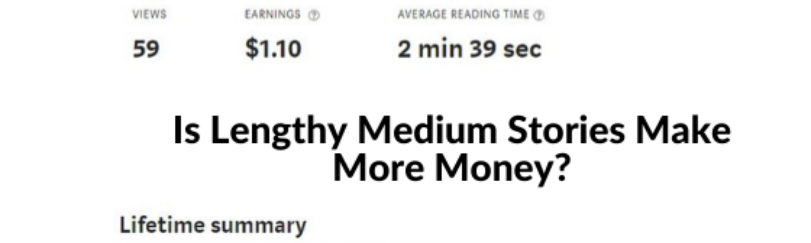 A comparison of earning of 6- Minutes Read Times Verses 3—Minutes Read Time