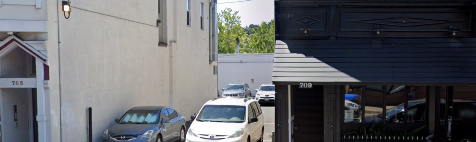 A parking lot on the 700 block of 4th Street in San Rafael, California, near where Ashley Yamauchi's body was discovered