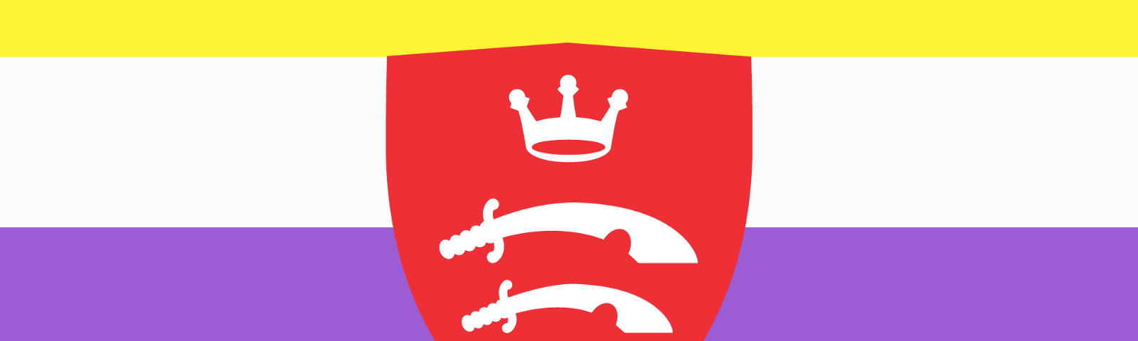 Non-binary flag with the Middlesex University shield