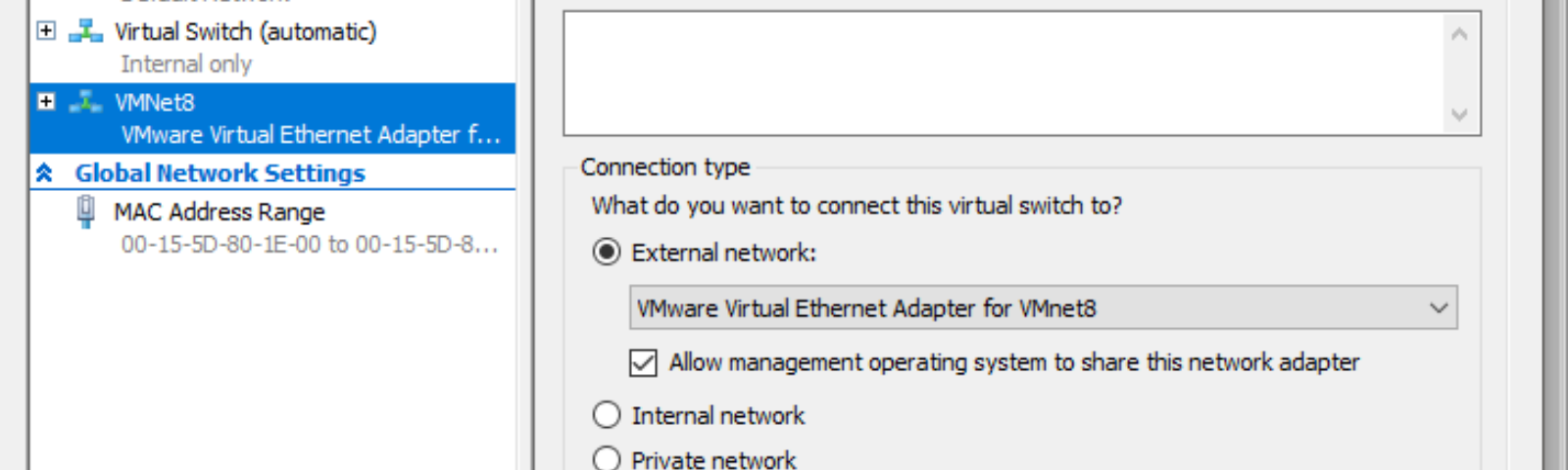 Enable easy NAT and DHCP Connectivity for your Hyper-V Virtual Machines