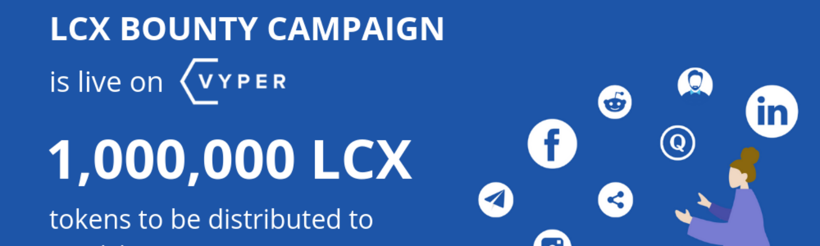 LCX Bounty Campaign live on Vyper.io