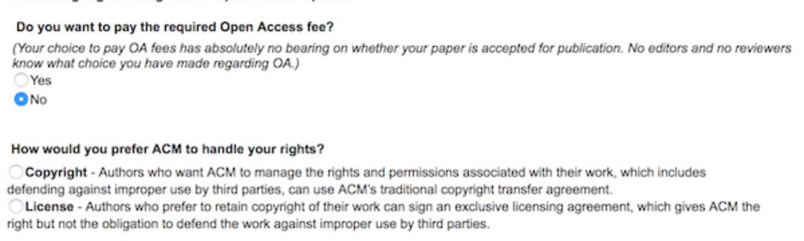 ACM Copyright Licenses: Which should you choose, and how do you