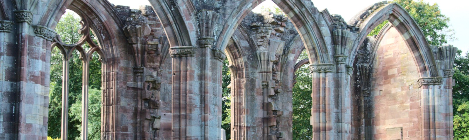 The starting point for Saint Cuthbert's Way, Melrose Abbey, Scotland. Author Photo.