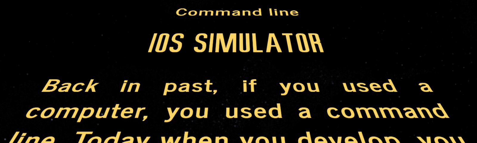 You don't need GUI — how to control iOS Simulator from