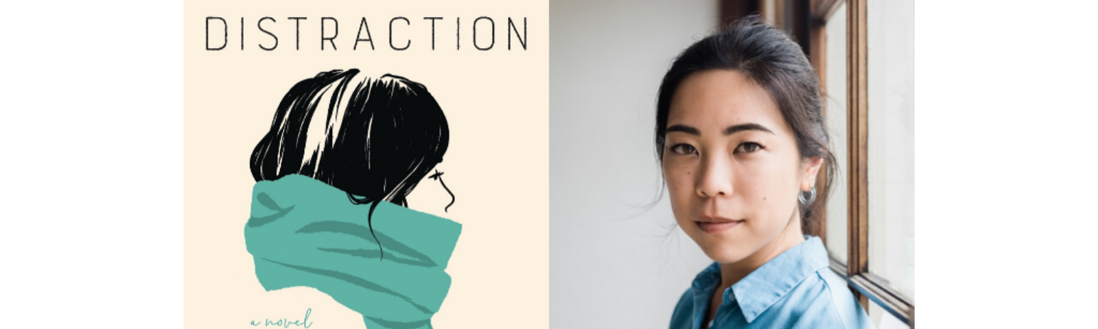 "Cover of ""Days of Distraction"" and photo of Alexandra Chang"
