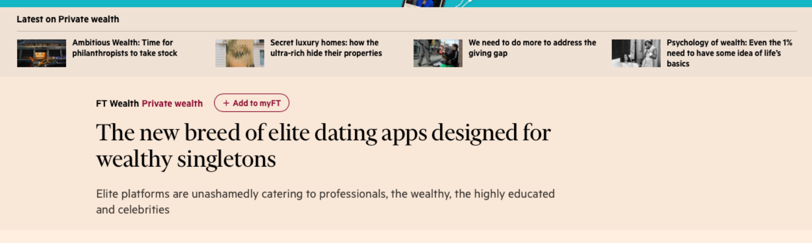 financial times dating website