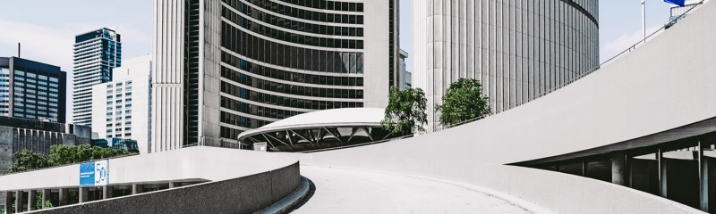 Ramp at Toronto City Hall leading to the Green Roof