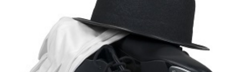 Bowler Hat with Tap Shoes and White Gloves
