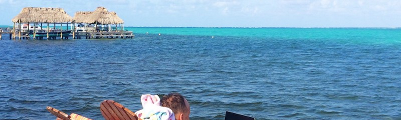 Working in Ambergris Caye, Belize