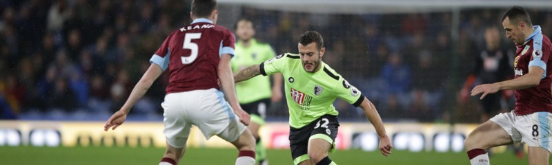 BURNLEY, UK, 10TH DECEMBER, 2016. Jack Wilshere of Bournemouth during the Premier League match between Burnley and Bournemouth at Turf Moor, Burnley, England on 10 December 2016. Photo by Robin Jones/Digital South.