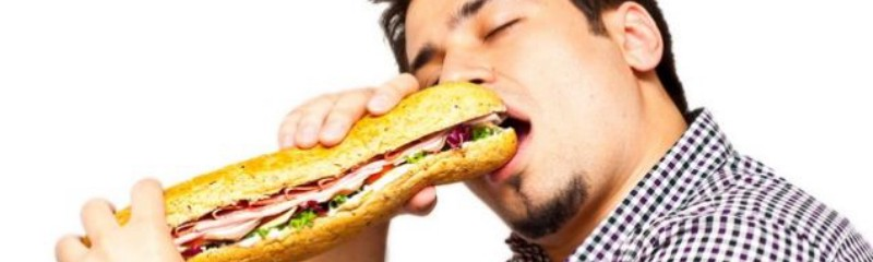 Man eating