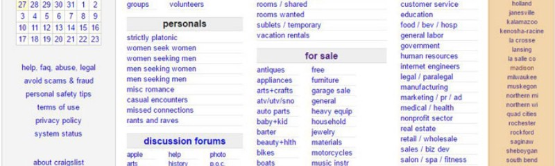 Cities you can advertise your business on craigslist