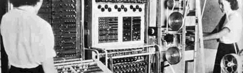Colossus being operated at Bletchley Park (WIki)