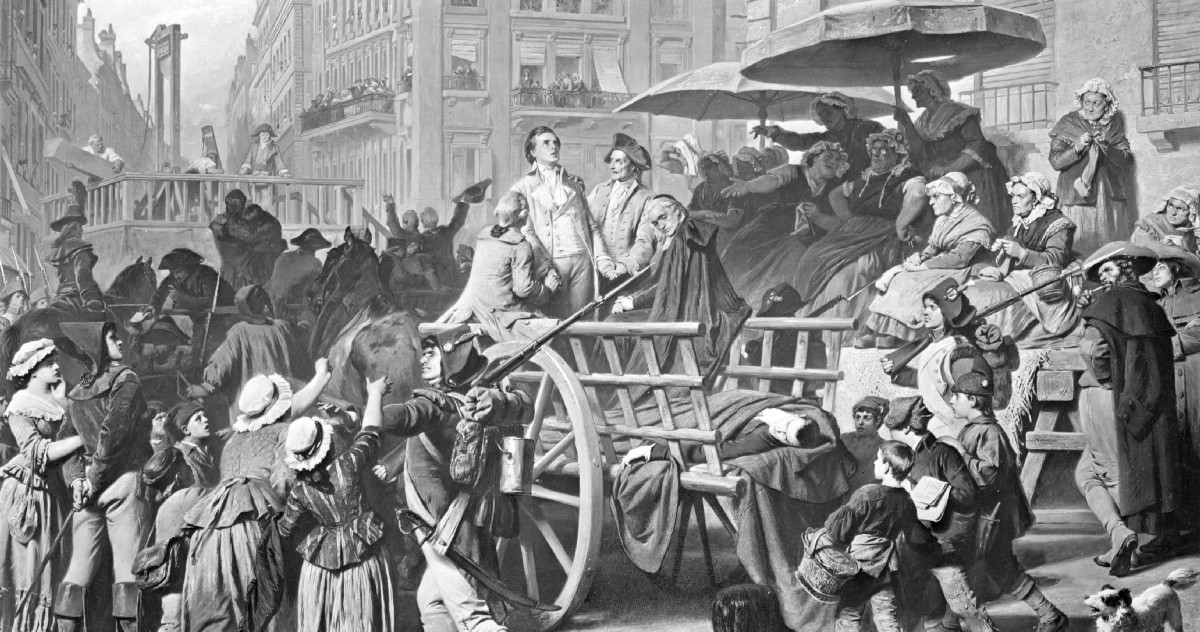 Knitting Lady At Guillotine : Horror spectators the lady revolutionaries who calmly
