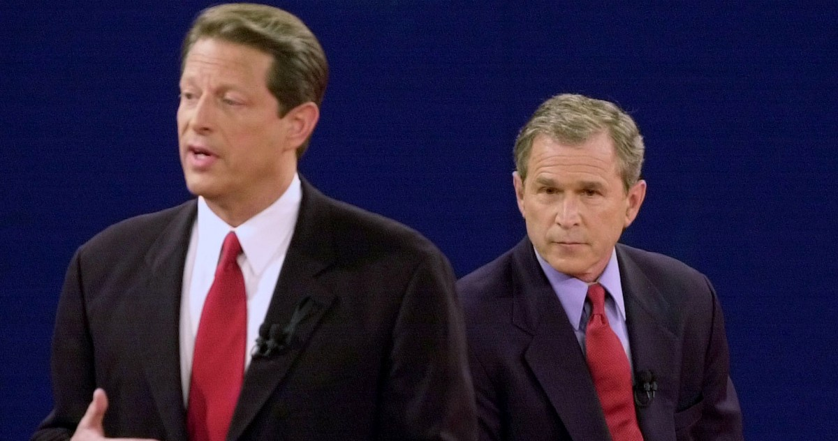 """a question on the president campaigns by al gore and george bush during the year 2000 2000 presidential race first in modern history where political parties spend more bush and gore campaigns during the president """"from george w bush."""