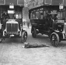 Jumping in front of cars for insurance money helped some 1920s immigrants achieve the American…