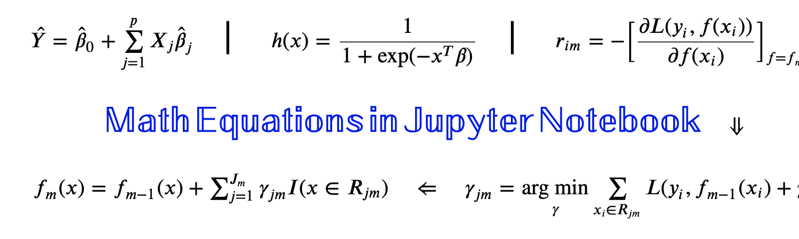 Writing Math Equations on Jupyter Notebook
