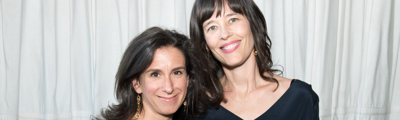 Investigative journalists Jodi Kantor and Megan Twohey pose for a photo at the Brilliant Minds Initiative dinner in 2018.