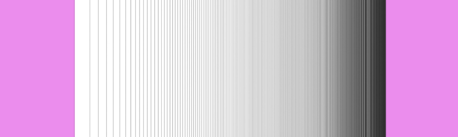 Thin vertical lines that form a gradient from white to gray to black.