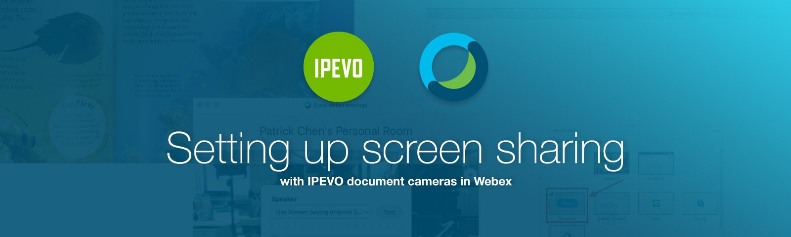 Setting up screen sharing with IPEVO document cameras in Webex