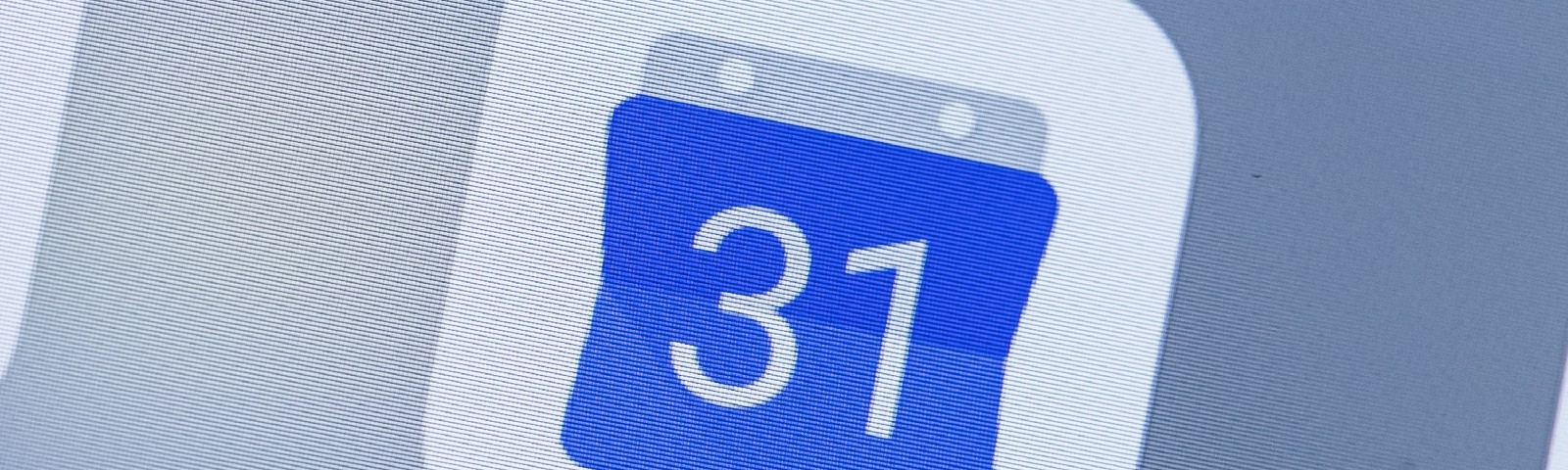 A smart phone with the icons for the Google Calendar app