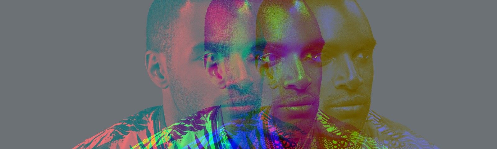 A multiple exposure photo of a Black man.