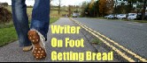 Writer on Foot Getting Bread