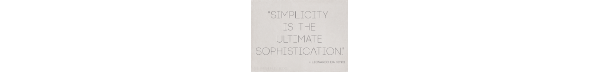 About Simplicity