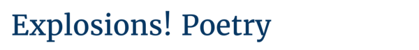 Explosions: Poetry