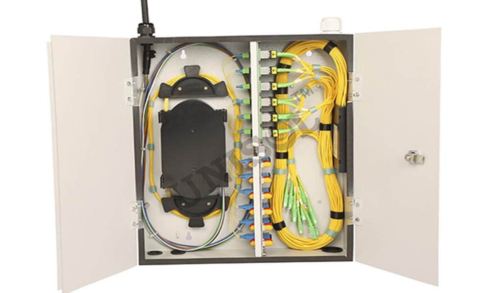 Wall Mount Patch Panels Make The Inside Fiber Optic Adapter Cables And Pigtails Realise Function Of Optical Distribution