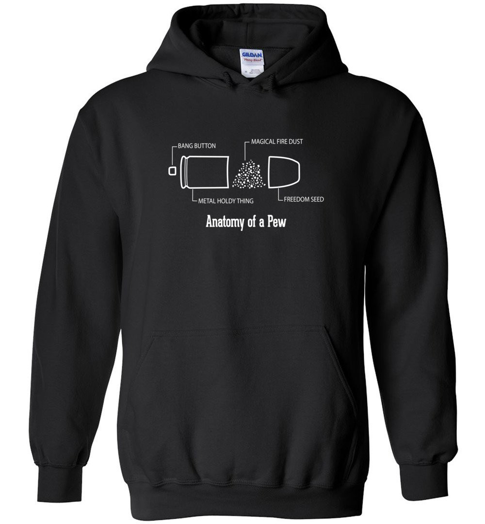 The Anatomy Of A Pew Shirt Funny Bullet Shirt Gift Hoodie