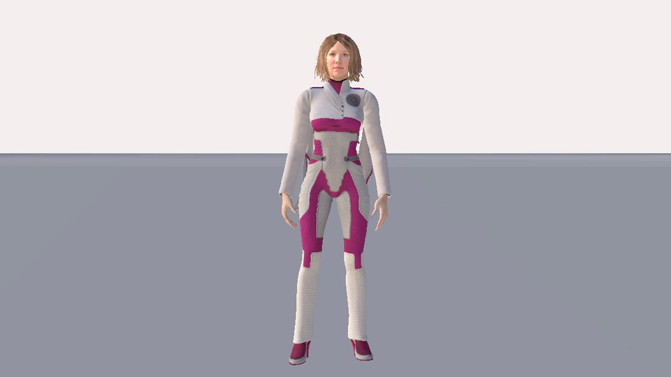 Liv's complete 3D avatar in High Fidelity.