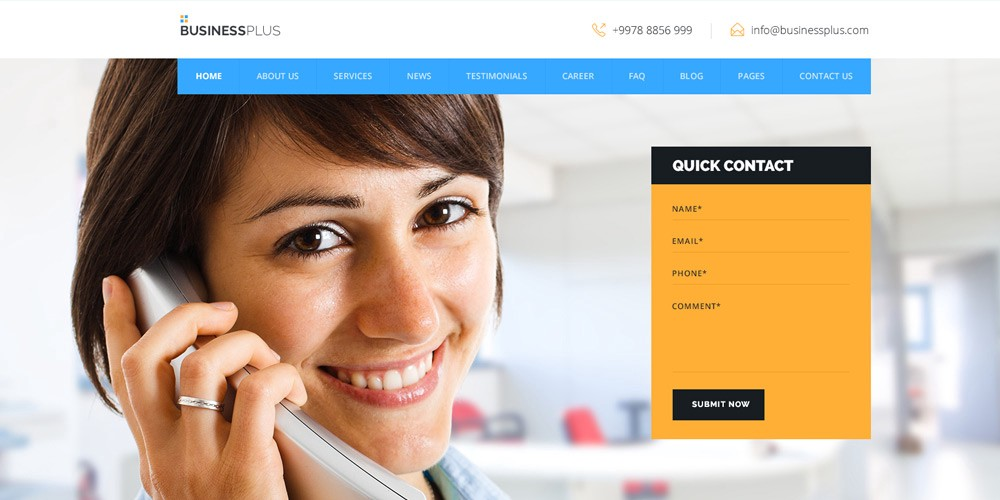 Free psd html web templates bradley nice medium free business web template psd fbccfo Image collections