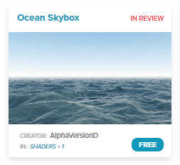 Ocean skybox is a 3D digital asset you can purchase on the High Fidelity open source marketplace.