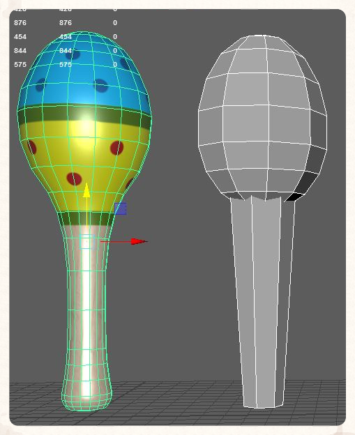3D models of maracas that were brought into High Fidelity's open source platform