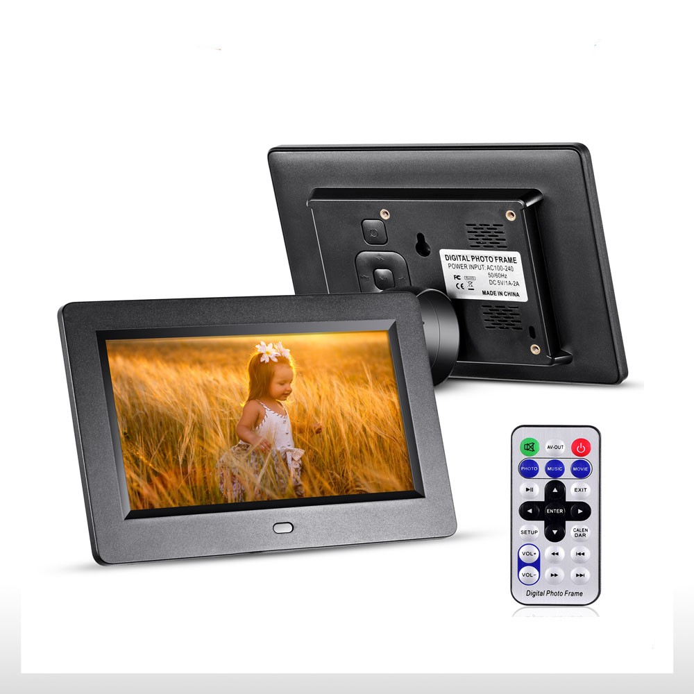 7 inch digital picture frame support 1080P HD Solution