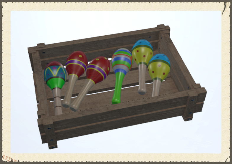 3D maracas from High Fidelity's virtual marketplace