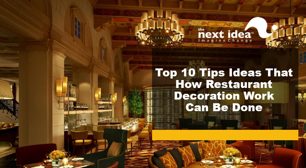 Designing And Decoration Are The Essential Ingredients Of Upgrading Restaurant Dishes Furniture