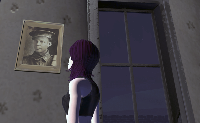 A portrait in Crompton Moor, a 3D domain in High Fidelity's VR platform.