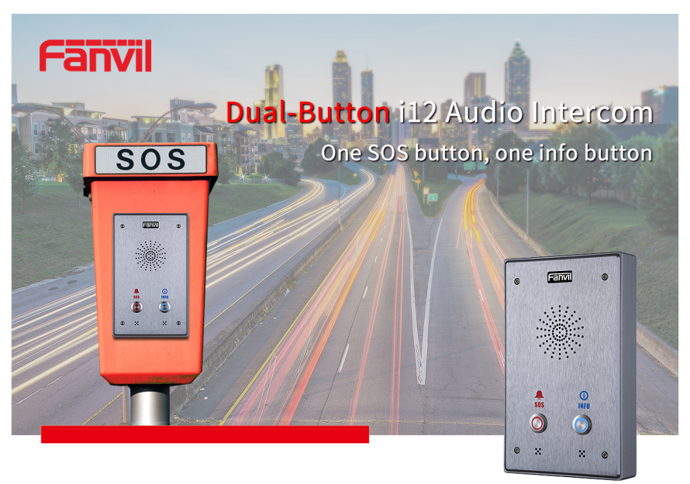 Fanvil Dual-Button i12 SIP Audio Intercom Is Available Now