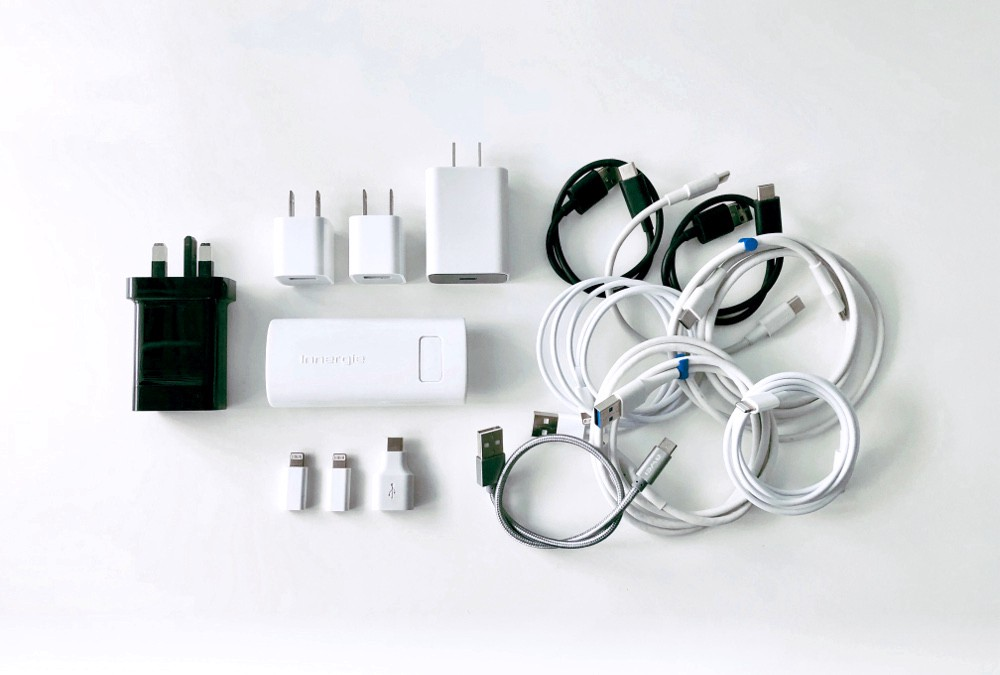 The key components of a minimalist's charging kit