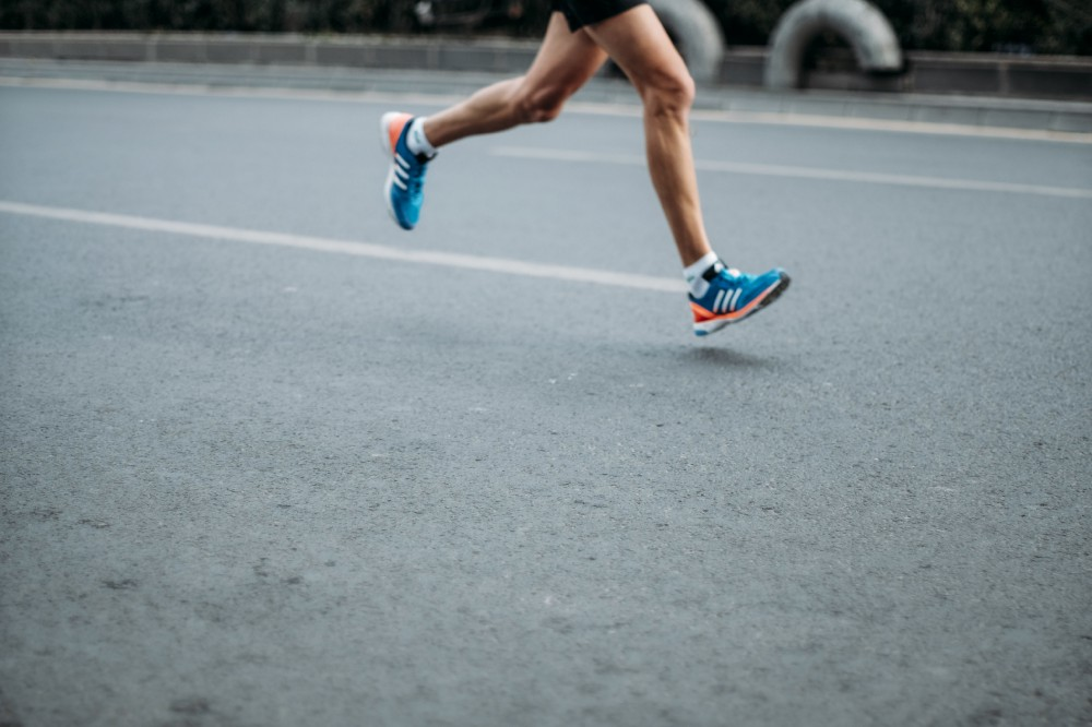 A person running