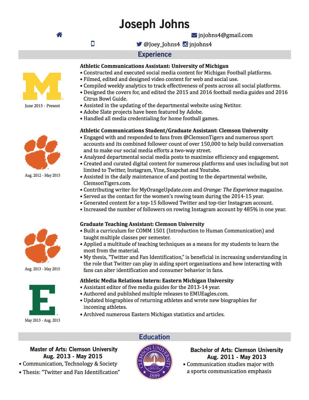 Resume 101 Front Office Sports