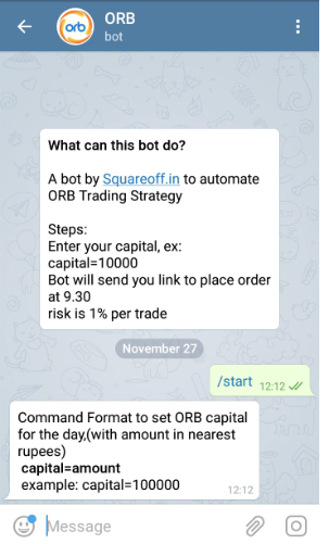 ORB—Opening Range Breakout—Auto trading bot