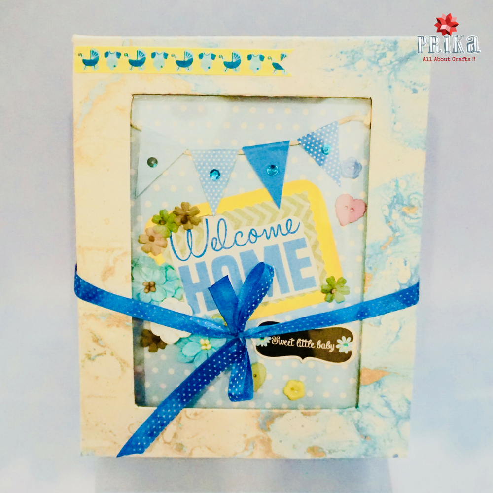 welcome baby boy first year scrapbook album by prika