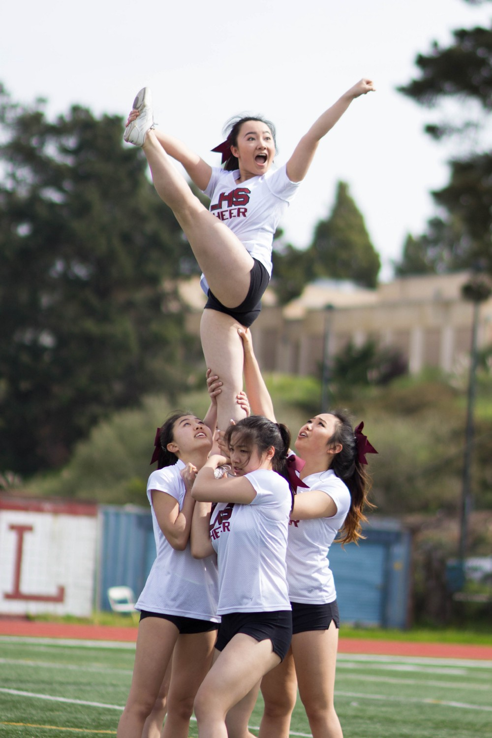 photos students get spirited at the 2017 spring rally lowell cheerleaders hold up flier junior alisha tam photo by jennifer cheung