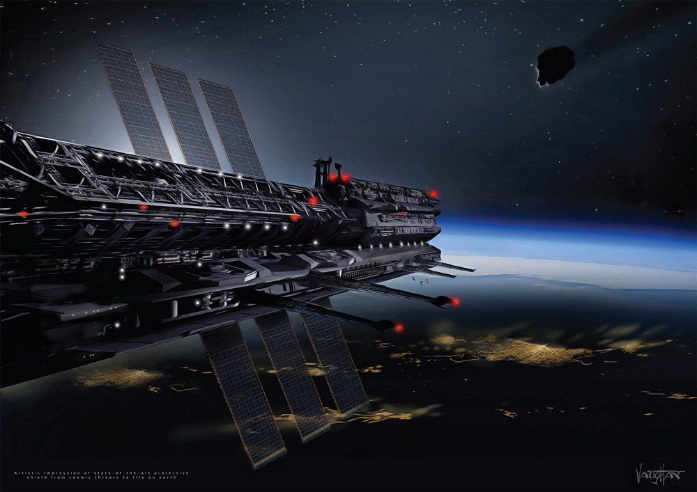 An artist's concept of an Asgardian space station | Image credit: Asgardia/James Vaughan