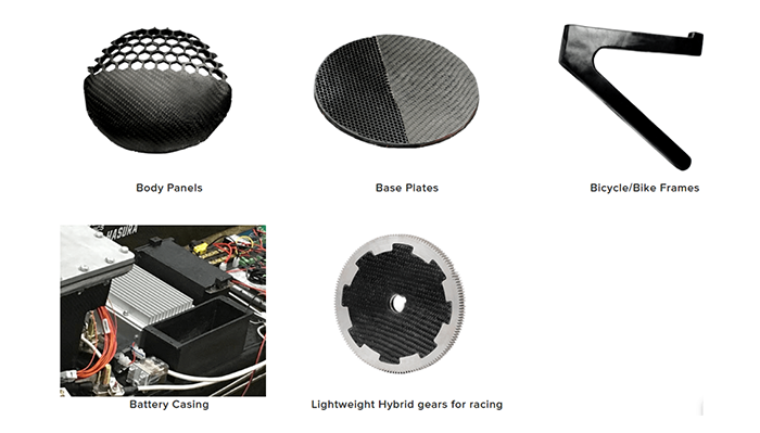 Fabheads manufactured parts using 3D printing